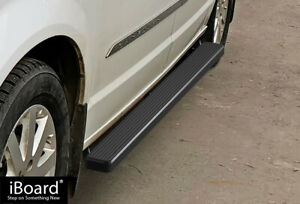 Premium 4 Black Iboard Side Steps Fit 11 20 Dodge Grand Caravan