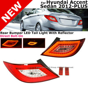 For Hyundai Accent Sedan 2012 2017 Led Style Rear Tail Lights Lamps Assembly