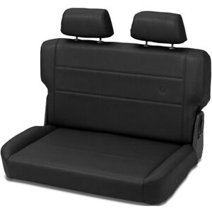 39440 01 Bestop Trailmax Black Vinyl Rear Bench Seat Jeep Cj Wrangler 1955 1995