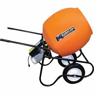 Kushlan Professional Portable Electric Direct Drive Cement Mixer 6 Cubic Ft