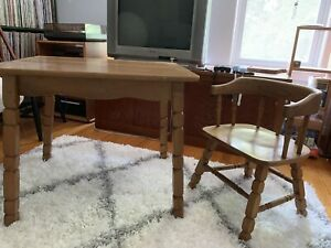 Antique Table And Chair Set From Post 1950s In Great Condition