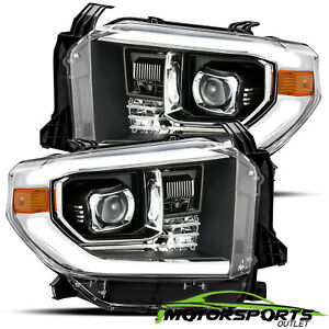 led Strip for 2014 2018 Toyota Tundra Black Projector Headlights 17 18