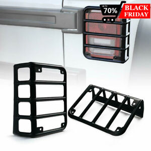 Rt Tcz Pair Tail Light Guard Cover For Jeep Wrangler Jk 07 17 Stainless Black
