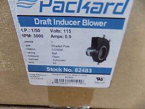 Packard 82483 Induced Draft Furnace Blower 9 1 4 w x 7 h 115v Metal Housing