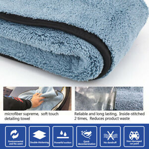 Car Wash Microfiber Towel Cleaning Drying Cloth Hemming Super Absorbent 1pc