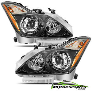 Polished Black For 2008 2015 Infiniti G37 Q60 Coupe Factory Style Headlights