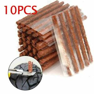 10pcs Tire Repair Plugs Tubeless Seal Patch Tyre Rubber Strips Self Vulcanizing