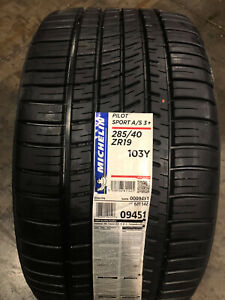 2 New 285 40 19 Michelin Pilot Sport A s 3 Tires