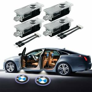 4 Pc Car Door Led Bmw Logo Ghost Light Projector 3 5 6 7 Z Gt Series Ground Lamp