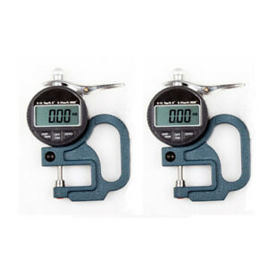 2x Thickness Gauge Gage Tester 0 10mm 0 01mm Leather Craft Pocket Measure Tool
