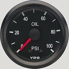 Vdo Gauges 150030 Vdo Instruments Press Gauge Mech 100psi Cp