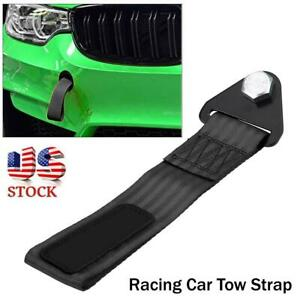 Universal Racing Car Tow Strap Tow Rope For Front Rear Bumper Towing Hook Us