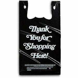 Large Plastic Black Bags 350 Count Extra Heavy Duty 1 6 Grocery Thank You