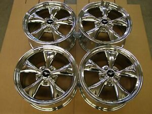 Oem Ford 2005 2009 Mustang Chrome Bullitt Wheels 2006 2007 2008 Gt Nos 17x8