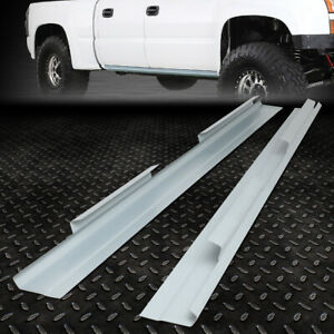 For 01 07 Chevy Silverado Gmc Sierra Crew Cab Pair Outer Slip on Rocker Panel
