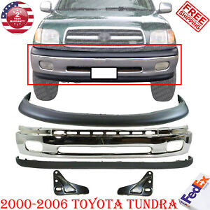 Front Chrome Steel Bumper Valance Bracket For 2000 2006 Toyota Tundra