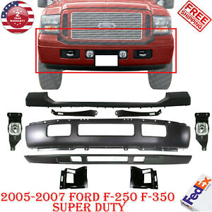 Front Bumper Valance Fog Bracket For 2005 2007 Ford F 250 F 350 Super Duty