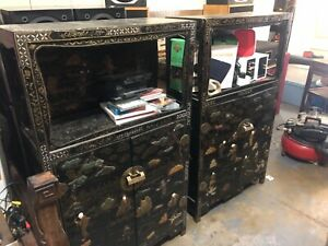 Pair Of Chinese Vintage Cabinets