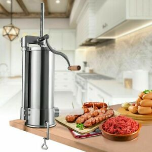 Sausage Stuffer Vertical Stainless Steel Sausage Stuffer Maker 6l 10 Lbs New