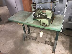 Lewis Union Special 150 5 Blind Stitch Hemmer Sewing Machine W Motor Table