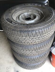 Set Of 4 Wheels And Tires 1965 Lincoln Continental