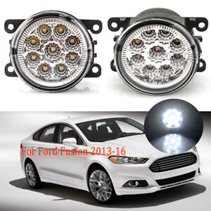 Led Fog Lights For Ford Fusion 2013 2016 Clear Lens Pair Bumper Lamp Replacement