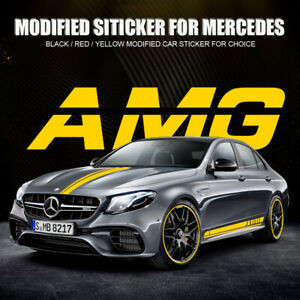 Modified Car Body Sticker Decal Side Skirt Sticker For Benz Amg New E c a Class