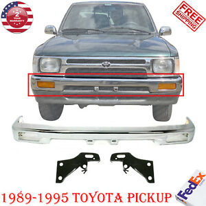 Front Bumper Chrome Steel Mount Arm Brackets For 1989 1995 Toyota Pickup 2wd