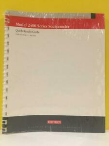 Keithley 2400s 903 01c Model 2400 Series Sourcemeter Quick Results Guide