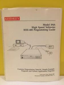 Keithley 194a 903 01 Model 194a High Speed Voltmeter Ieee 488 Programming Guide