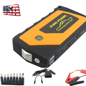 Battery Jump Starter Peak Portable Car Suv Charger Booster Jumper Cable New