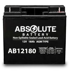 New Ab12180 12v 18ah Sla Battery For Boosterpac Es5000 Battery Booster