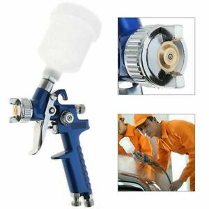Mini Air Paint Spray Gun 0 8mm 150cc Hvlp Pneumatic Nozzle Jet Gravity Feed Kit