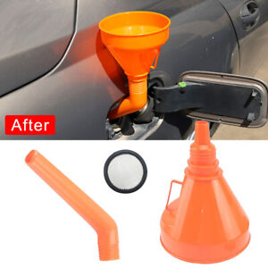 Flexible Car Water Oil Funnel Petrol Diesel With Spout Filter Car Accessories