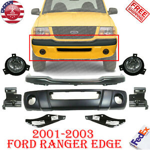 Front Bumper Primed Steel Bracket Valance Fog For 2001 2003 Ford Ranger Edge
