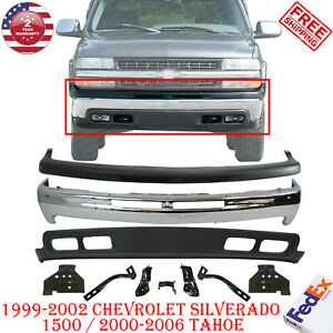 Front Bumper Chrome Steel Valance Bracket For 1999 02 Chevy Silverado 1500 Tahoe