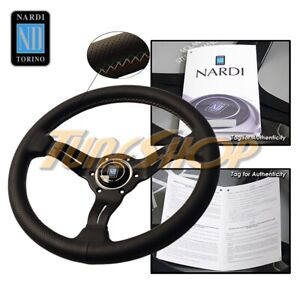 Nardi Rally Deep Corn 330mm Steering Wheel Perforated Leather 3 Color Stitching