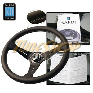 Nardi Rally Deep Corn 350mm Steering Wheel Perforated Leather 3 Color Stitching