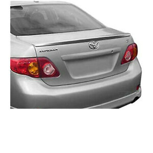For 09 13 Toyota Corolla Sedan Lip Style Rear Trunk Spoiler Wing Un Painted