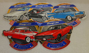 New Vintage Cars Snap On Tools Lot Of 5 Tool Box Stickers Decals Man Cave