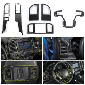 Car Interior Decor Accessories Steering Wheel Console Cover Trim For Ford F150