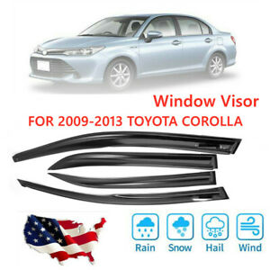 4pcs Window Vent Visor Sun Rain Wind Deflector For Toyota Corolla 2009 2013 Usa