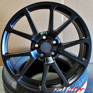20x8 5 20x10 5x120 Black Wheels For Cadillac Cts Cts v 20 Inch 2008 2016