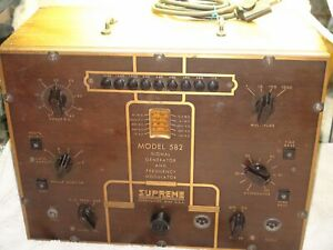 Supreme Model 582 Signal Generator And Frequency Modulator