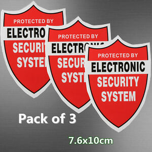 3x Security System Decals Sticker Decal Video Warning Cctv Camera Alarm 7 6x10cm