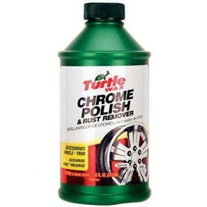 Turtle Wax T 280ra Chrome Polish Rust Remover 12 Oz 12 Ounces
