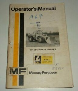 Massey Ferguson Mf 55c Wheel Loader Operators Owners Manual Original 6 75