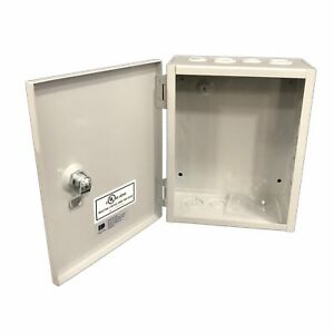 Bud Nema 1 Sheet Electrical Enclosure Metal Steel Box Hinge Cover Case 8x10x4