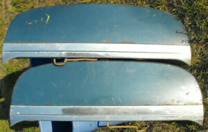 1953 1954 Pontiac Fender Skirts Pair W Molding Solid Used