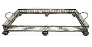 Antique C 1900 Mauser Sterling Silver 8 X 12 Vanity Dresser Tray Missing Glass